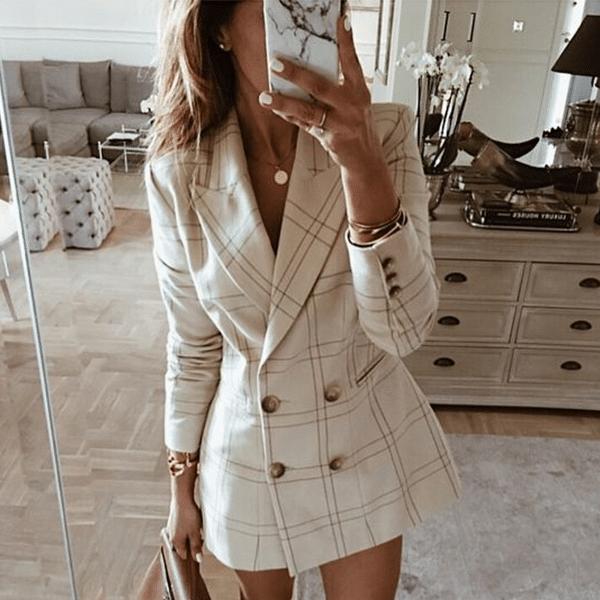 Sukienka żakietowa stylizacje