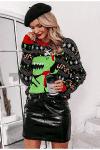 Wielokolorowy świąteczny sweter dla mamy i córki z kolekcji Merry Christmas 3