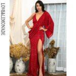 Asymetryczna sukienka wieczorowa czerwona z odkrytymi plecami