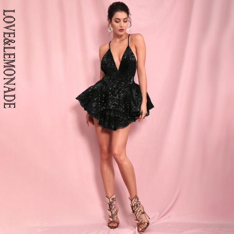Czarna sukienka rozkloszowana z tiulową halką mini 2