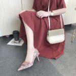 Eleganckie damskie czółenka szpilki wężowa skóra różowe 2