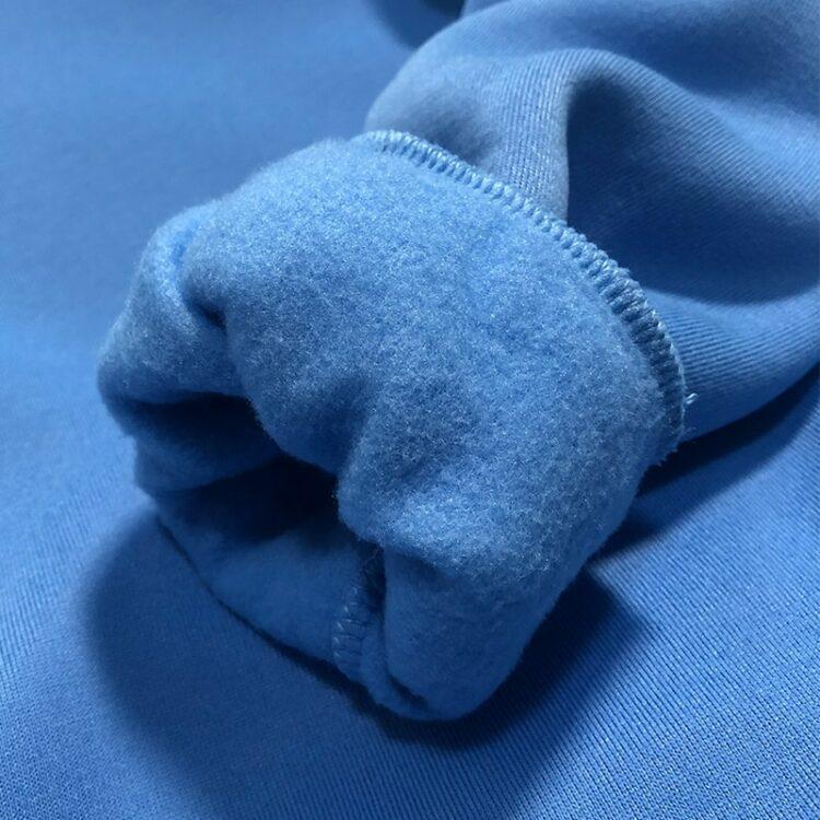 Niebieskie dresy damskie grube z polarem komplet 2